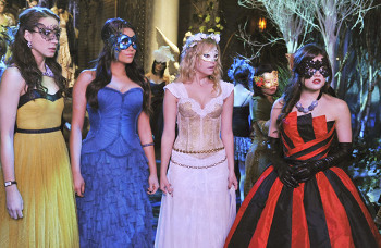 """A"" invites the Liars to a masquerade ball"