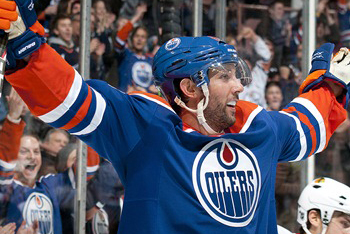 Sam Gagner of the Edmonton Oilers