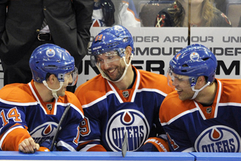 Sam Gagner with line mates