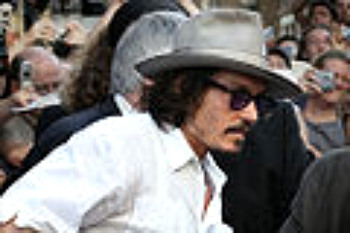 Johnny Depp in a stetson