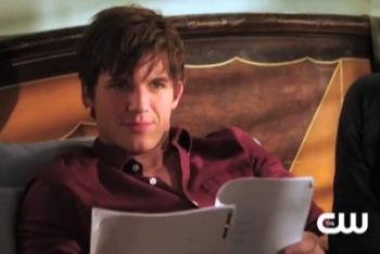 Liam Reading His Lines