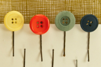 Button Bobby Pins
