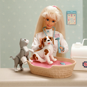 Barbie has had all kinds of careers, like Veterinarian!