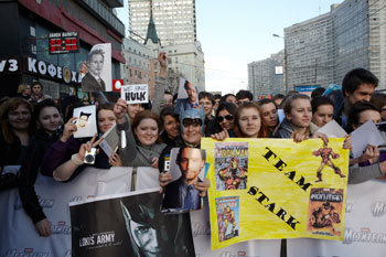 Fans at the Premiere