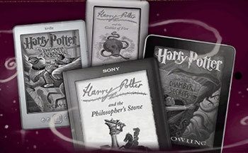 The site offers e-books and audio books of the HP series