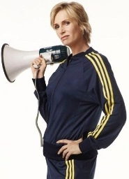 Jane as Coach Sue on Glee