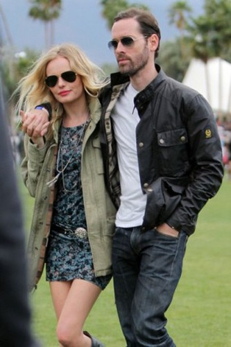 Actress Kate Bosworth and Director Michael Polish