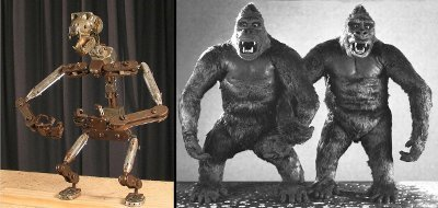 King Kong armature and puppets