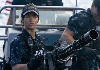 Rihanna with her gun