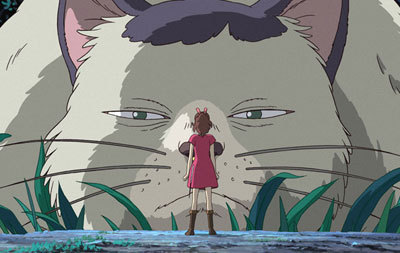 Arrietty meets a BIG kitty