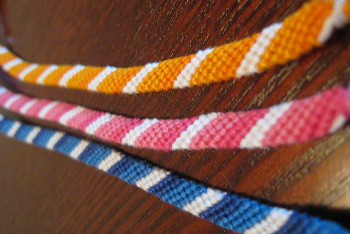 Candy Stripe Pattern Friendship Bracelets
