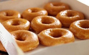 The first donut recipe in North America is from a cookbook dating back to 1803
