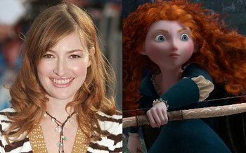 Kelly and her character Merida