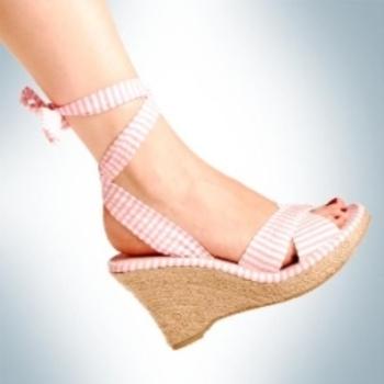 Fun with a heel and seersucker ties
