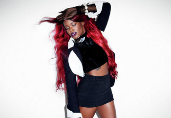 Azealia originally recorded under the name Miss Bank$