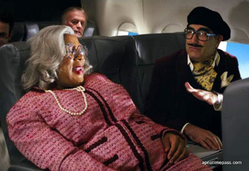 Madea with a disguised Eugene Levy
