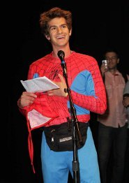 Andrew as Spidey at last year's Comic Con