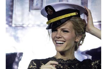 In Battleship she plays the daughter of a naval officer