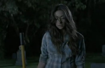 Emily finds herself standing at the edge of Alison's empty grave