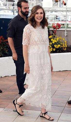 Elizabeth Olsen is lovely in lace