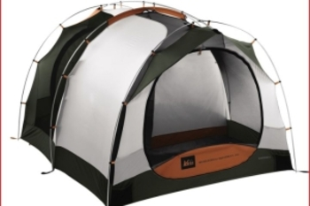 Zip-in the privacy screen for a 2-room tent