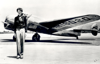 Amelia's first plane was yellow and named Canary