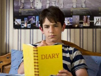 Zach as Greg with his famous Diary