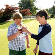 Greg and Rowley (Robert Capron) at the country club