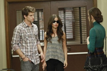 In PLL, Toby is often manipulated by his blind step sister Jenna