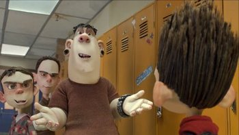 Alvin and pals bully Norman at school