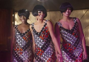 The sister act looking 1960's chic