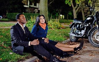 Derek Luke as Stix with Jordin as Sparkle