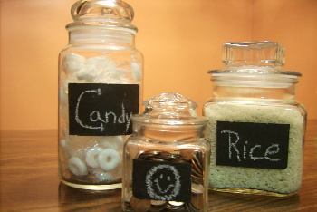 Use Your Chalk Paint to Decorate or Label Jars
