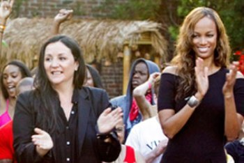 Kelly Cutrone and Tyra Banks