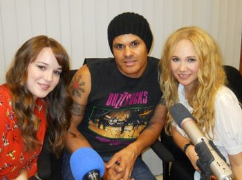 Kay, director Elgin James and Juno at our interview