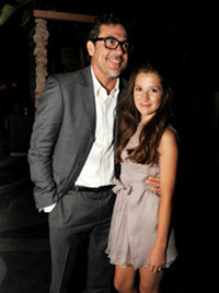 "Natasha at the premiere with ""dad"" Jeffrey Dean Morgan"