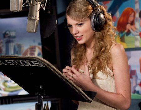 Taylor Swift records Audrey voice