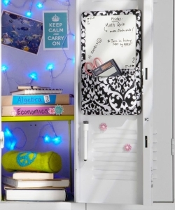 Light up your locker with battery powered lights