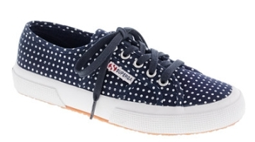 Dot your tootsies with these cute Superga sneakers