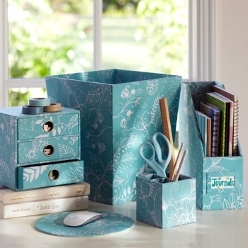 An organized desk makes your room look even better!