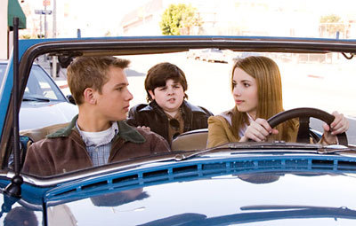 Max with Emma Roberts in Nancy Drew