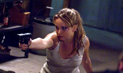 Jennifer armed against an attacker