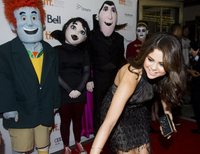 Selena at the premiere in Toronto