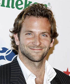 Actor Bradley Cooper styles his waves with gel or mousse