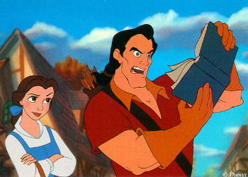 Gaston even tries to bully Belle, the girl he apparently loves!