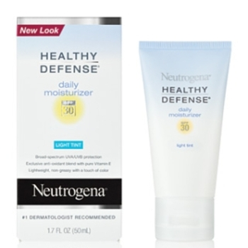 A gentle moisturizer with sun protection and a hint of tint gives a great base for your healthy glow