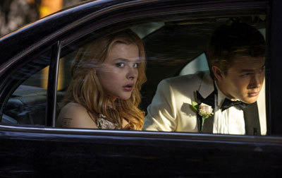 A scared Carrie arrives at prom with date Tommy