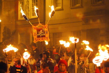Guy Fawkes Day celebration in Lewes, UK