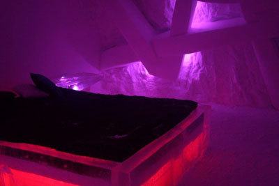 Inside the Quebec ice hotel