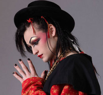 Douglas as quirky 1980's rocker Boy George